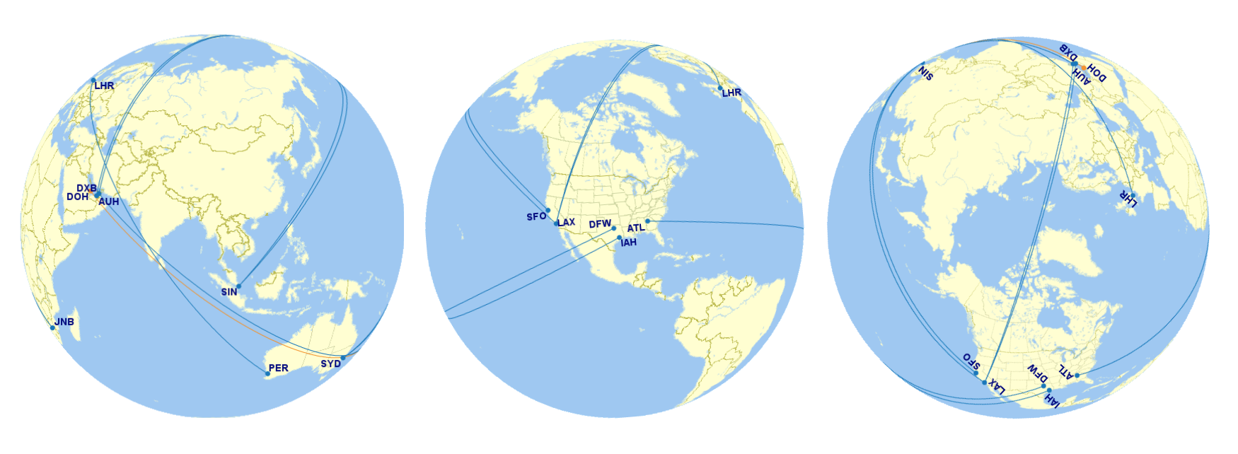 Great Circle Distance - Longest Flights In The World