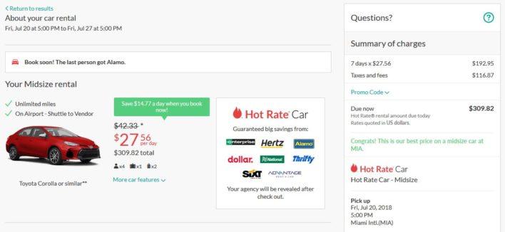 Hotwire Hot Rate Car Rental