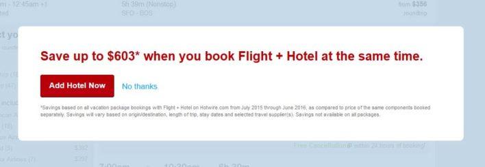 Hotwire Add a Hotel To A Flight