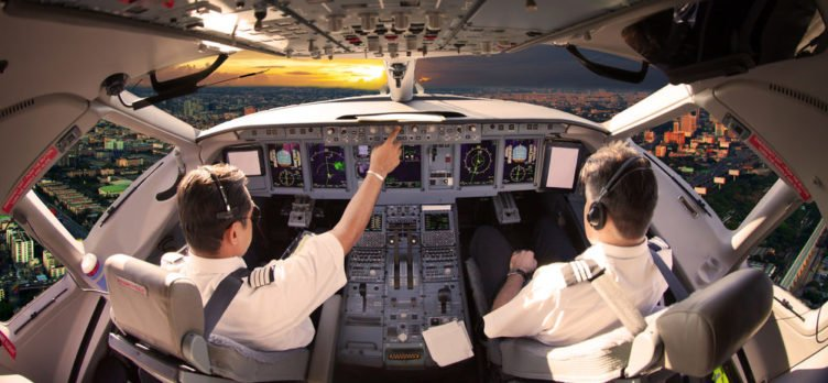 Pilots in Cockpit - Longest Nonstop Flights In The World