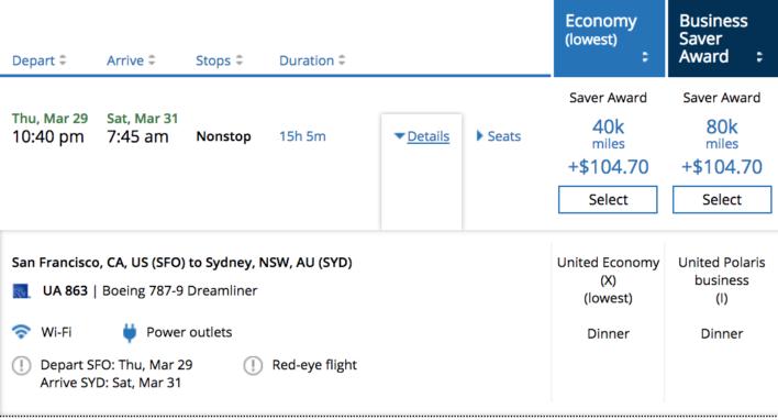 United Miles to Sydney