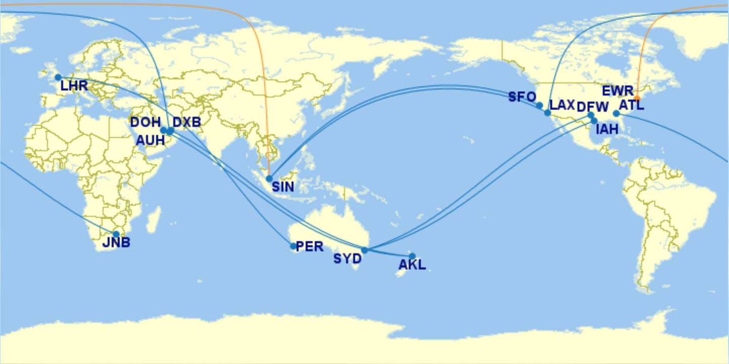 The 10 Longest Non-Stop Commercial Flights In The World [2018]
