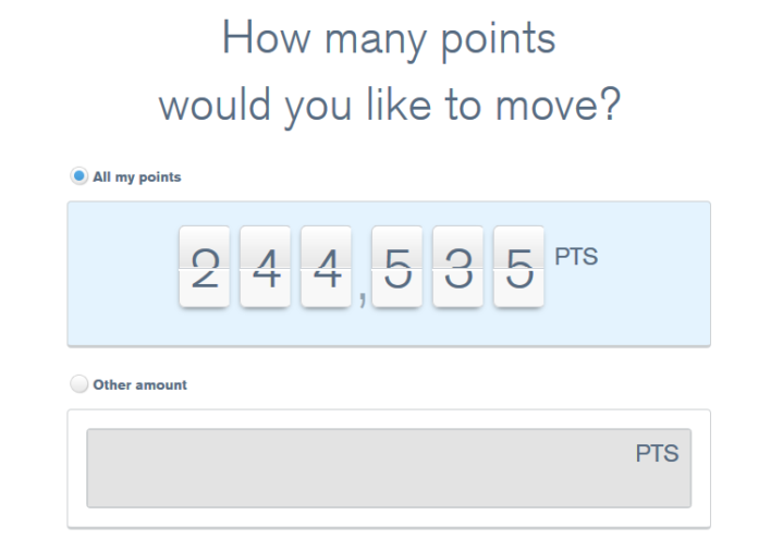 Choose How Many Ultimate Rewards Points You Want To Transfer