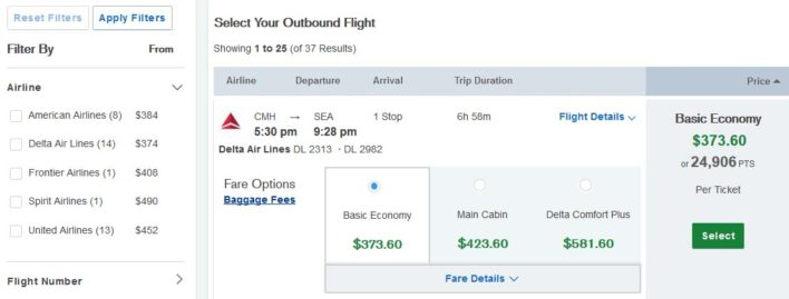 Book a flight through the Chase Ultimate Rewards travel portal