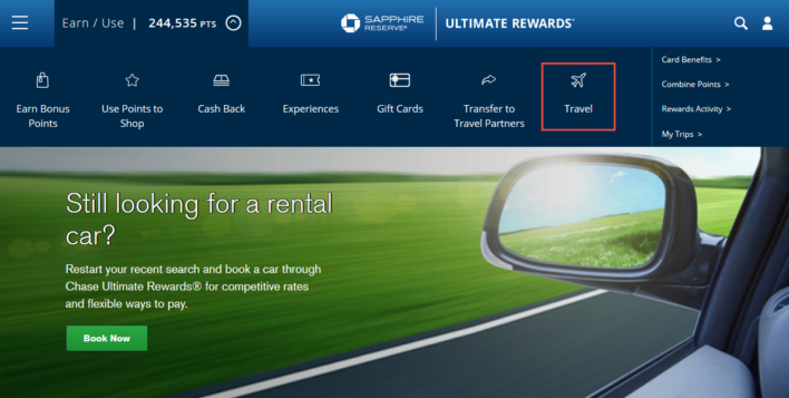 How To Access The Ultimate Rewards Travel Portal
