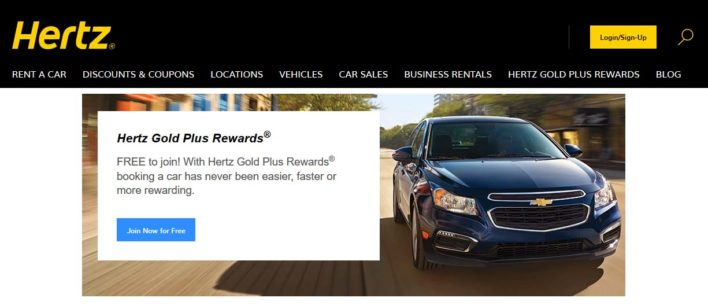 Hertz Gold Rewards Plus Loyalty Program