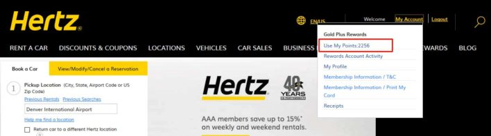 How To Transfer Hertz Gold Rewards Points