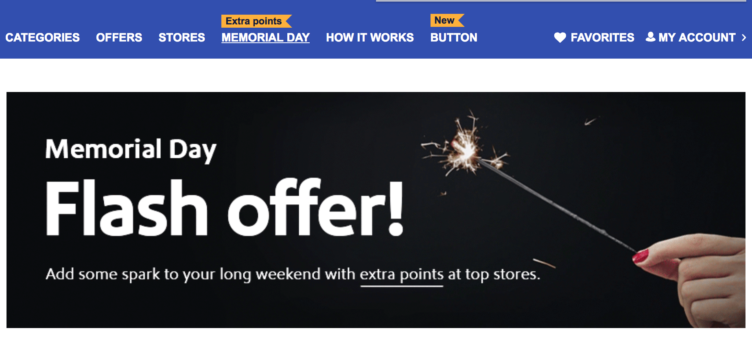 Southwest Memorial Day Shopping Portal Bonuses