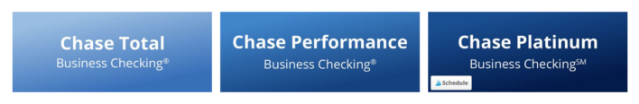 3 types of Chase business checking accounts