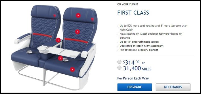 Delta Seats And Upgrade Request