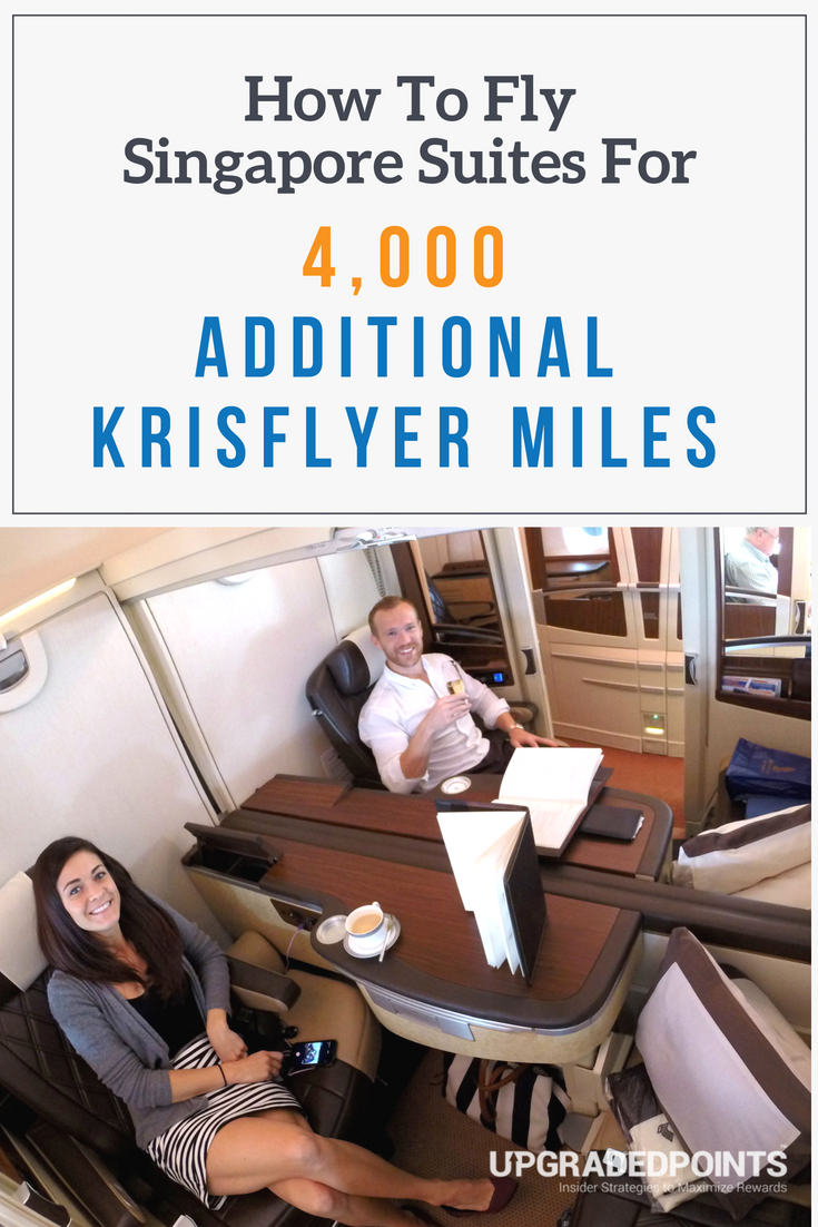 How to Fly Singapore Suites for 4,000 Additional KrisFlyer Miles