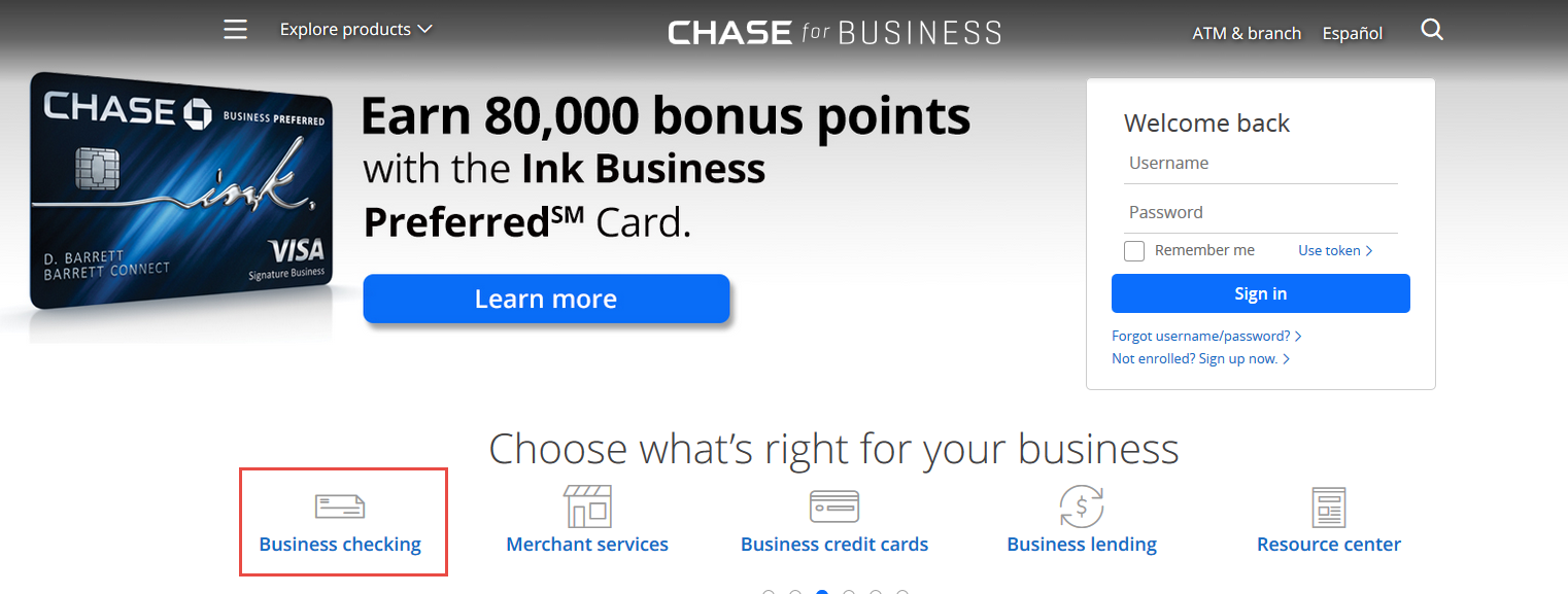 3 Chase Business Checking Accounts In