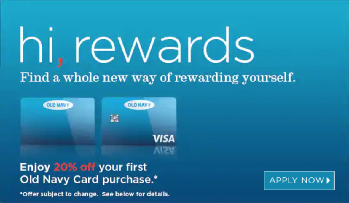 How to use old navy credit card rewards
