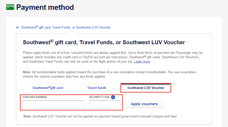 Southwest Gift Cards Travel Funds Luv Vouchers 2020 Update