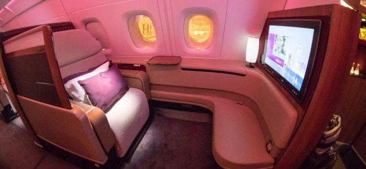 Qatar Airways A380 First Class Seat