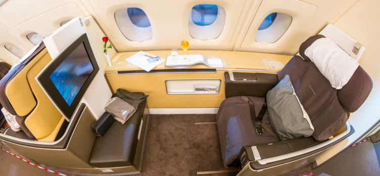 Lufthansa Airbus A380 First Class Seat