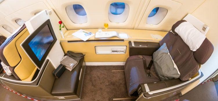 Lufthansa Airbus A380 First Class Seat