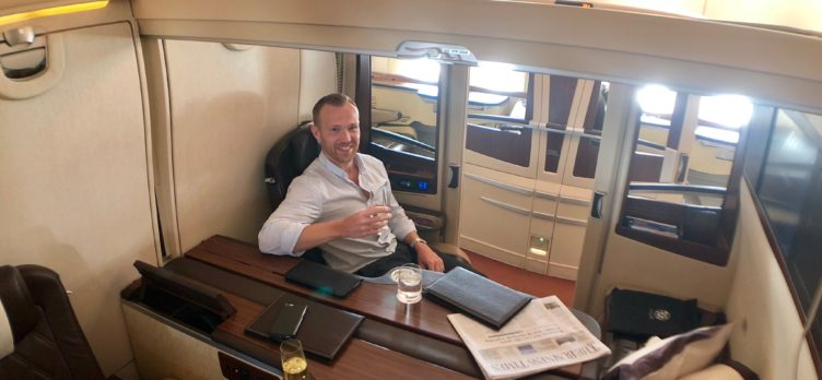 Singapore Airlines First Class Suites Frankfurt to Singapore - Middle Seats 5