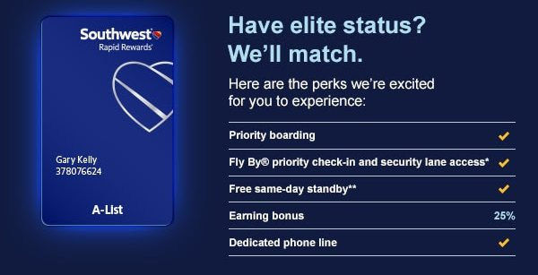 How to Status Match with Southwest Airlines [2019 Update]