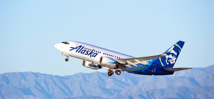 Alaska Airlines Takeoff Mountains