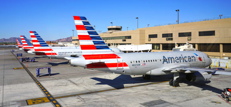 American Airlines Planes at the gate