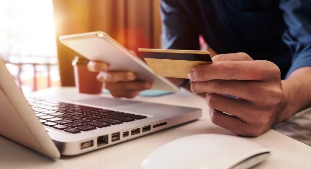 Computer credit card phone