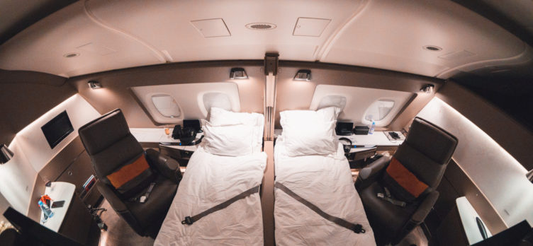 Singapore Airlines new A380 First Suite Double Bed