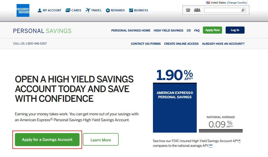 American Express Online Savings >> American Express Personal Savings Accounts 2018 Update