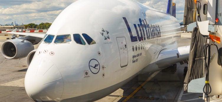 Lufthansa Plane Gate