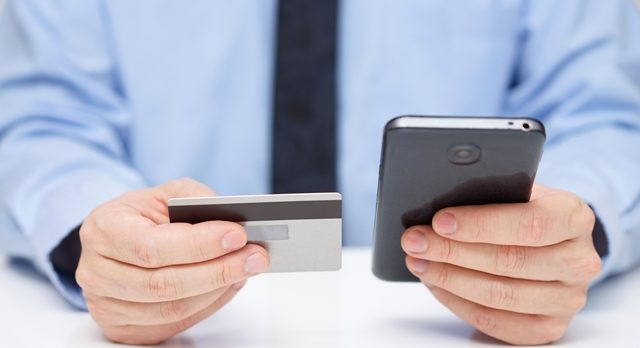 Cell phone credit card