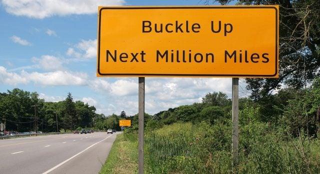 Million Miles sign