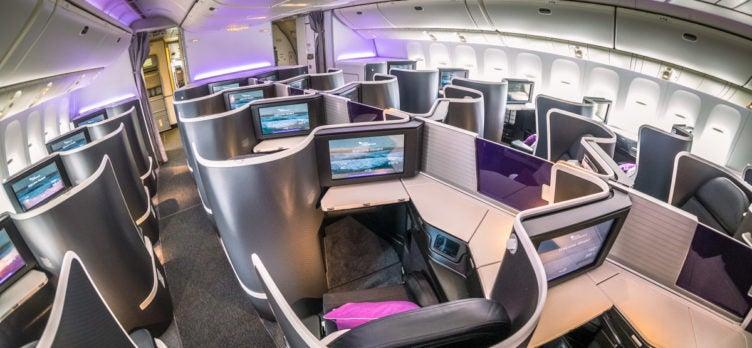Virgin Australia 777 the business Cabin