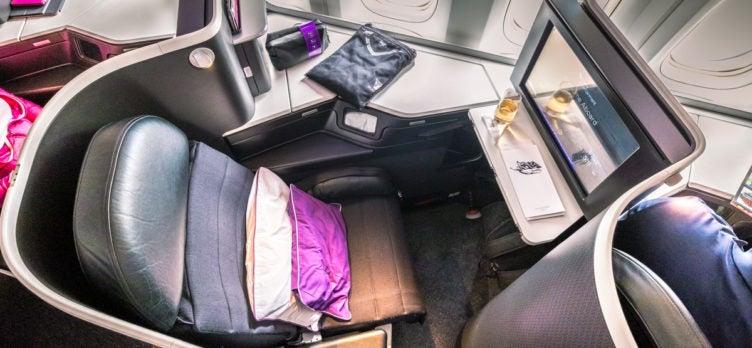 Virgin Australia 777 the business Seat