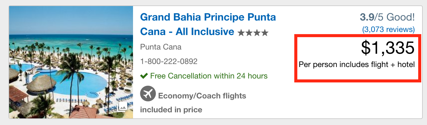 expedia coupon punta cana