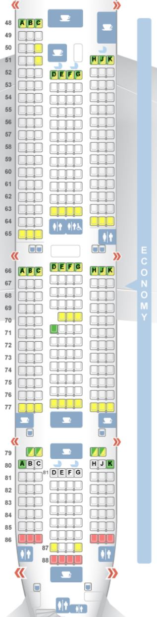 Qantas A Seat Map on
