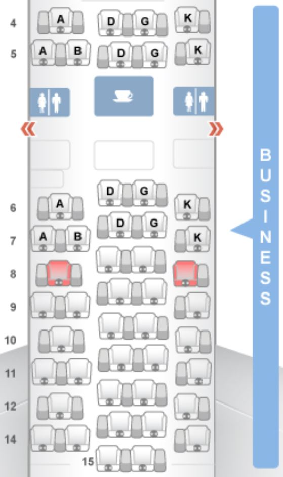 Swiss airlines seat selection