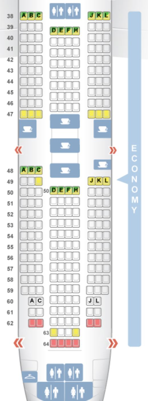 Air China Seat Map Air China's Direct Routes From The U.S. [Plane Types & Seat Options]
