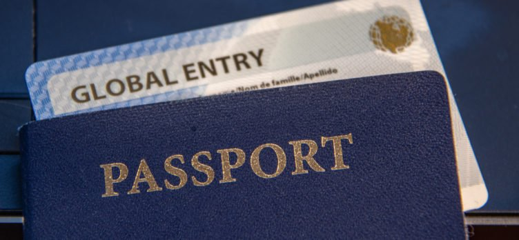 Global Entry card and passport