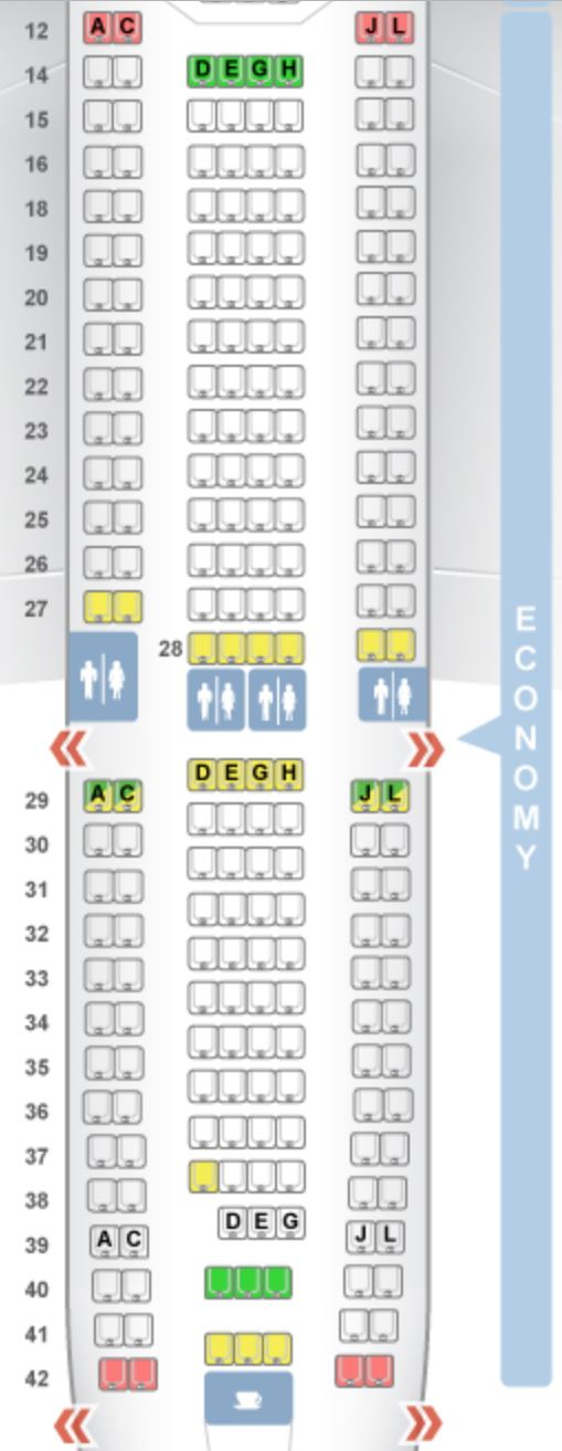 Alitalias Direct Routes From The Us Plane Types Seat