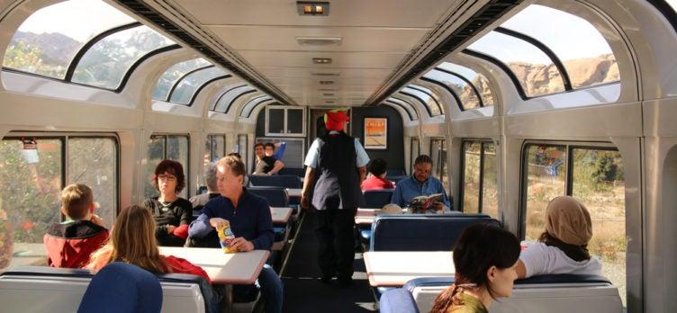 Amtrak Train Lounge