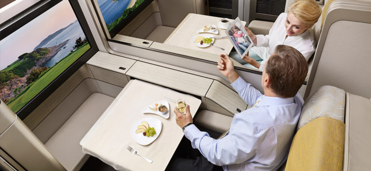 Asiana First Class Suite Dining