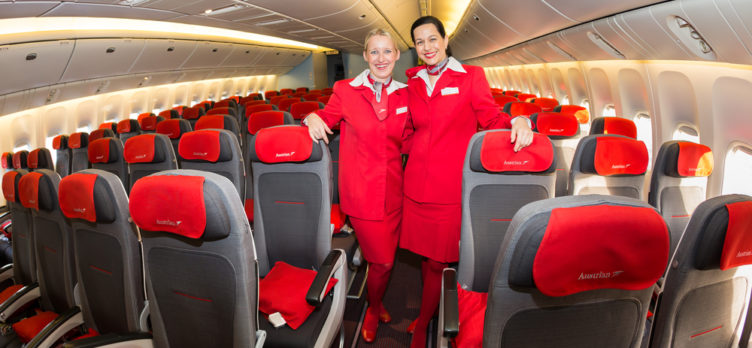 Austrian Airlines\' Direct Routes from The U.S. Routes [Plane Types]