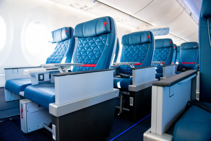 Delta Airlines A220 First Class