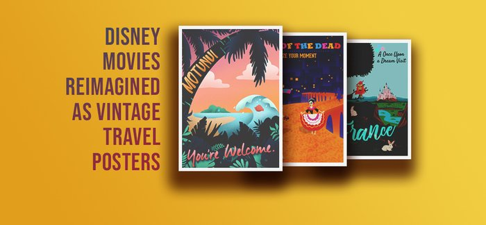 Disney Movies Reimagined Posters