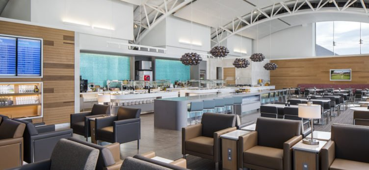 American Airlines Flagship Lounge LAX - Self Serve Food and Bar