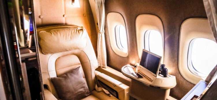 Emirates First Class Game Changer seat