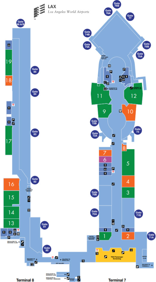 terminal 6 lax map How To Get Between Terminals At Los Angeles International Airport terminal 6 lax map