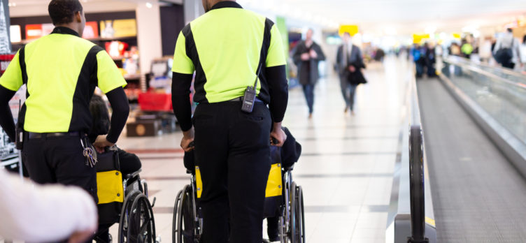 disabled passenger in the airport