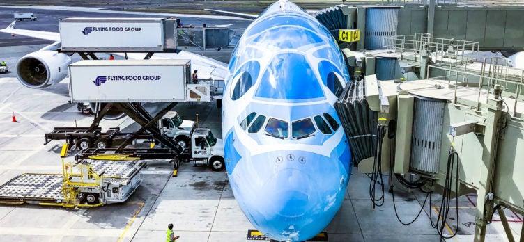 ANA Inaugural Flight A380 - Flying Honu Livery