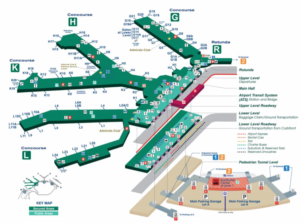 map of o hare terminal 3 Chicago O Hare International Airport Ord Terminal Guide 2020 map of o hare terminal 3